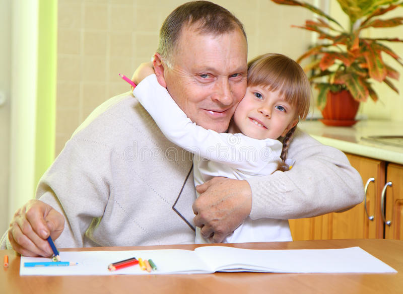 Download Grandfather And Granddaughter Stock Image - Image of affectionate, daughter: 22458509