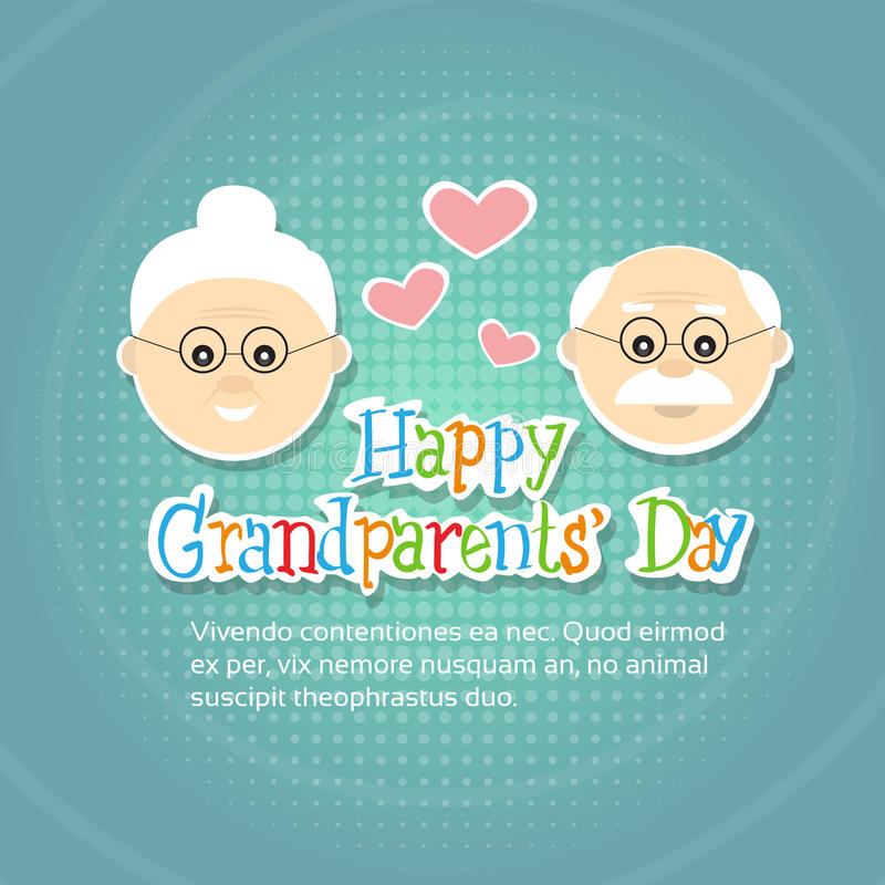 Grandfather with grandmother happy grandparents day greeting card download grandfather with grandmother happy grandparents day greeting card banner stock vector illustration of flat m4hsunfo