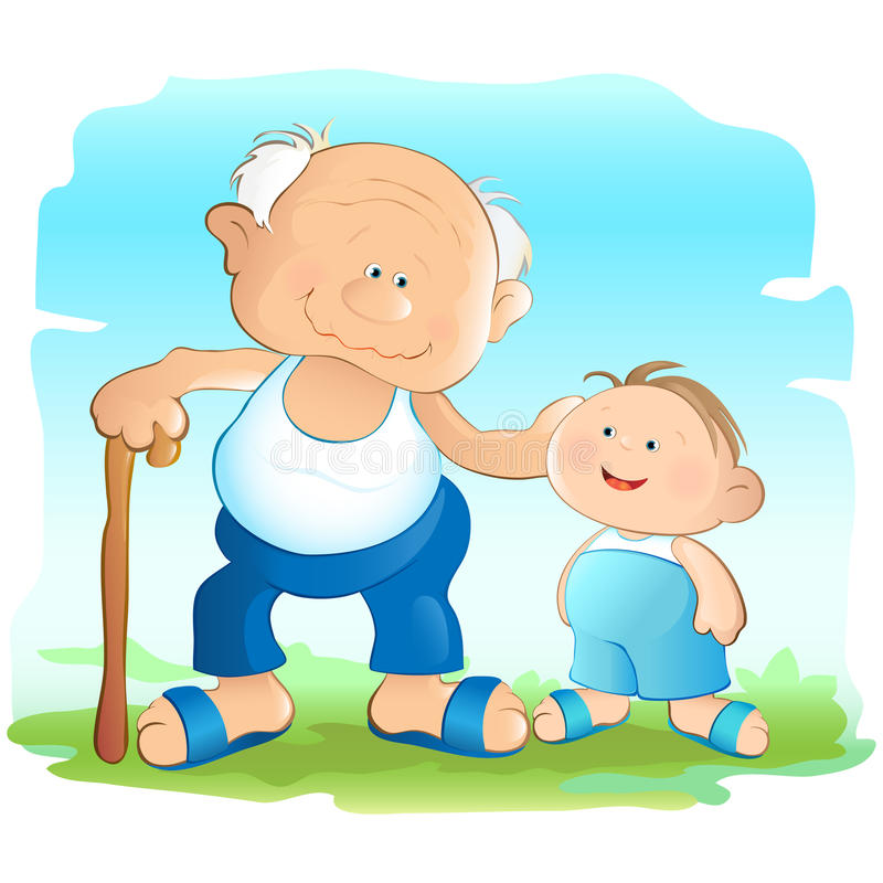Download Grandfather and Grandson stock vector. Illustration of smile - 11266230