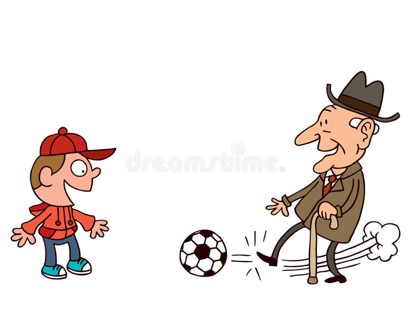 Download Grandfather and grandson stock vector. Illustration of football - 27887618