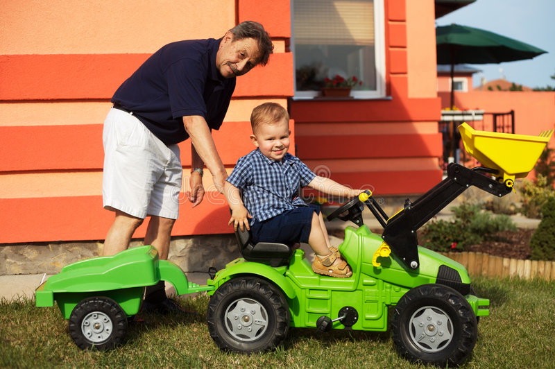 Download Grandfather And Grandson Play Stock Photo - Image: 2610340