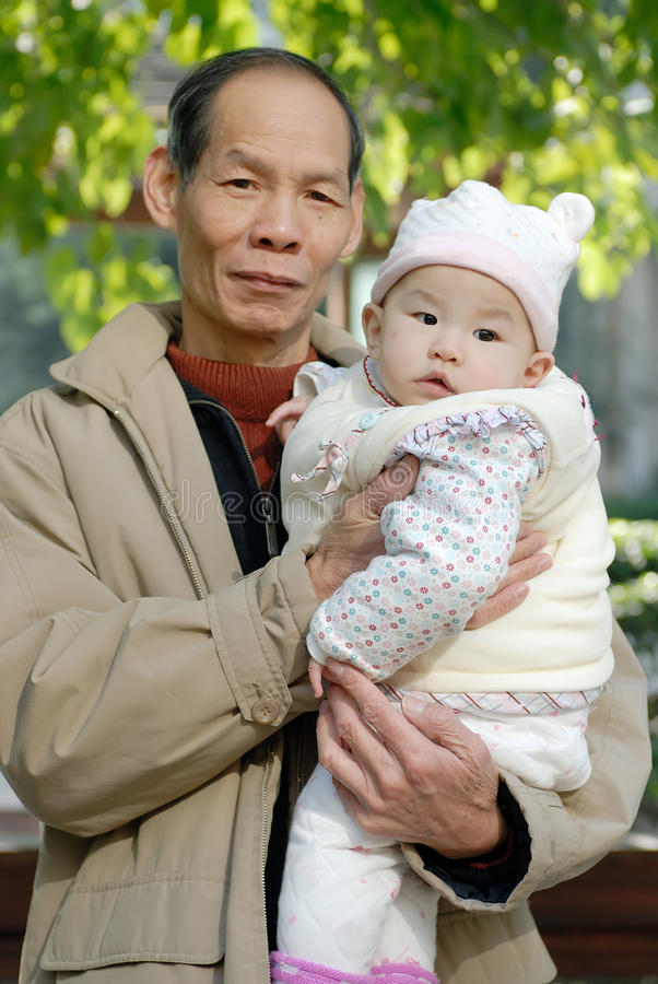 Download Grandfather And Her  Grandchild Stock Photo - Image: 17038842