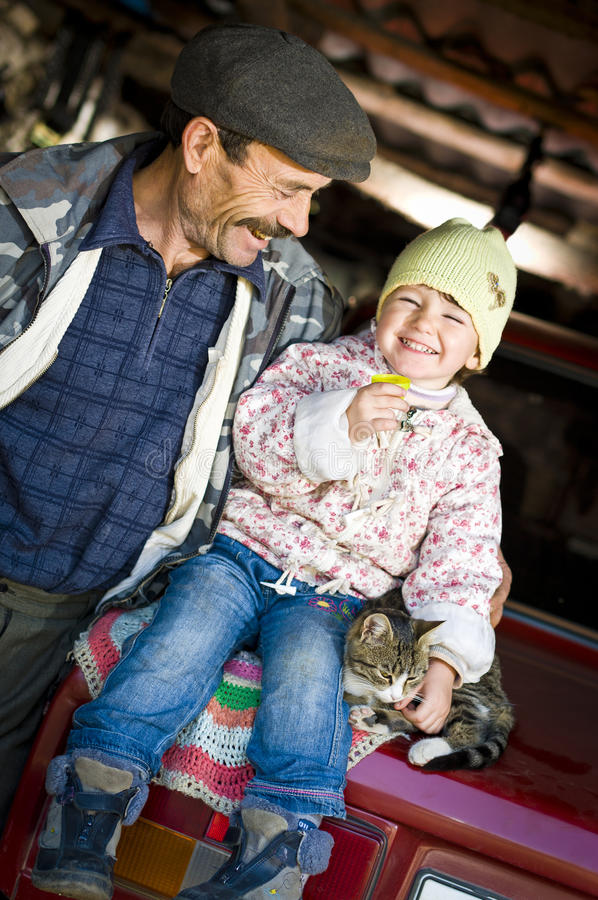 Download Grandfather With His Granddaughter Stock Photo - Image: 22176064