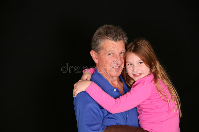 Download Grandfather And Little Girl Stock Image - Image: 14482141