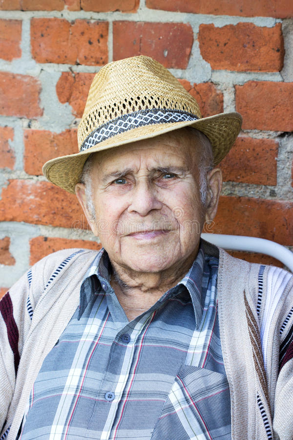Download Grandfather stock image. Image of hair, chair, checked - 44536995