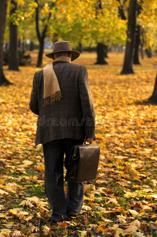 Download Grandfather Portrait In Park Stock Photo - Image: 7143070