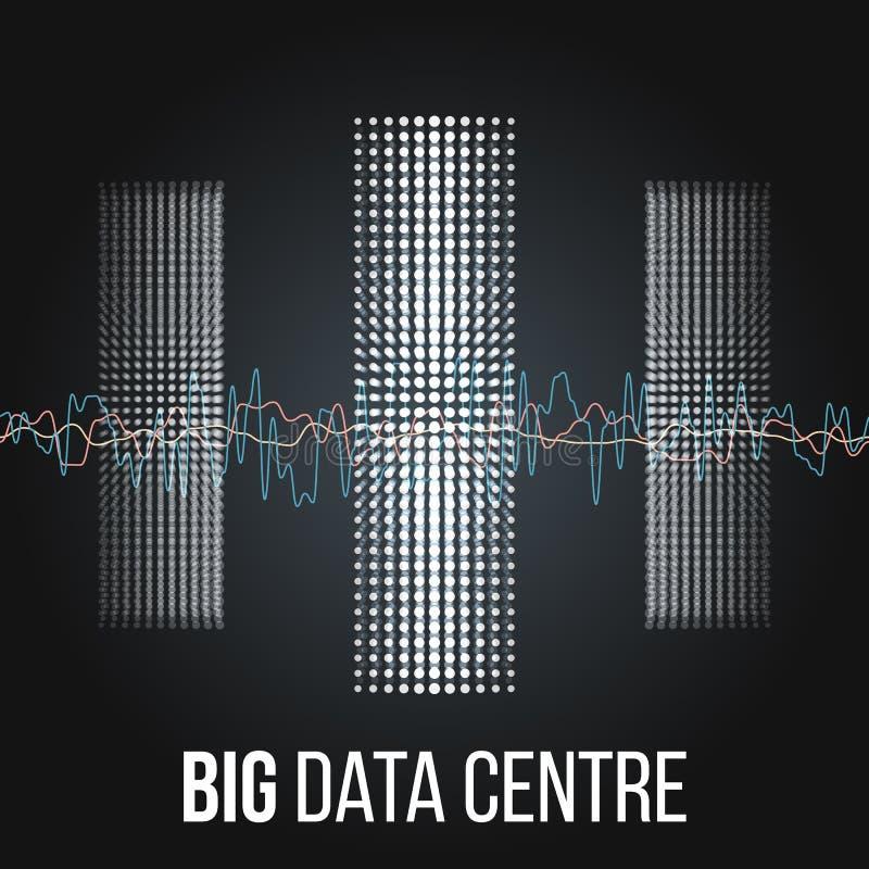 Grandi algoritmi di dati Analisi di progettazione di Minimalistic Infographics di informazioni Scienza, fondo di tecnologia Vetto illustrazione vettoriale
