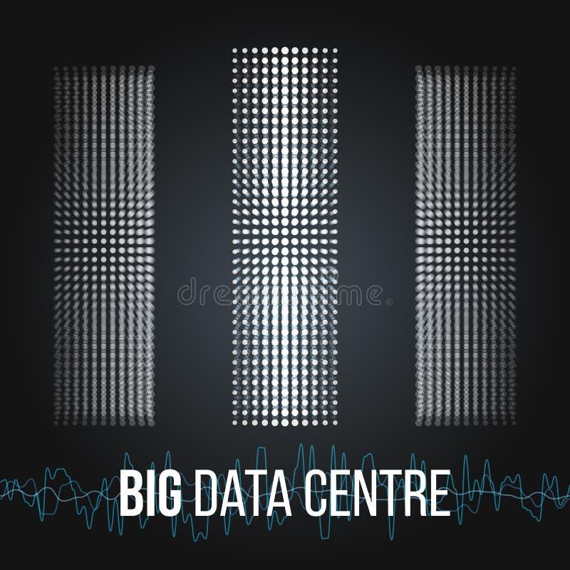 Grandi algoritmi di dati Analisi di progettazione di Minimalistic Infographics di informazioni Scienza, fondo di tecnologia Vetto fotografia stock libera da diritti