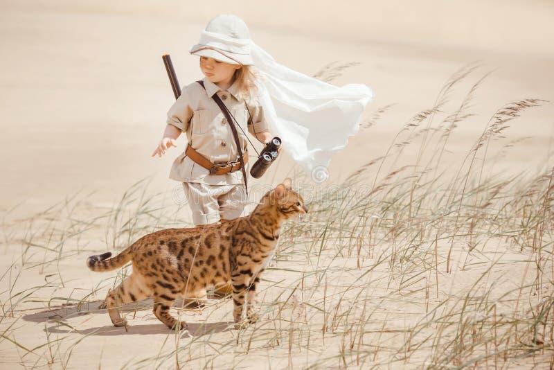 Grandi avventure in deserto fotografie stock