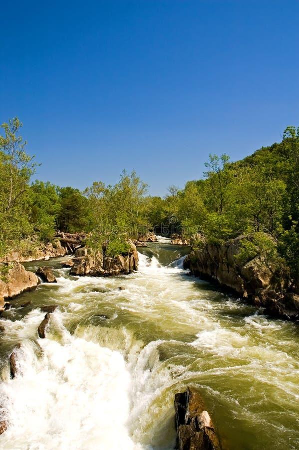 Grandi cadute sul fiume di Potomac fotografia stock libera da diritti