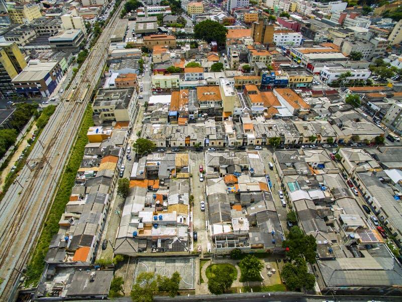 Grandi città, grandi viali, case e costruzioni Distretto leggero Bairro da Luz, sao Paulo Brazil, ferrovia e subw fotografia stock