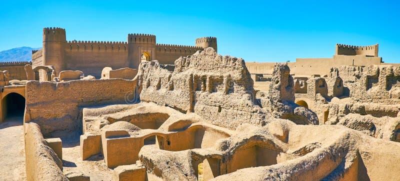 Grandi costruzioni dei periodi antichi, Rayen, Iran immagini stock