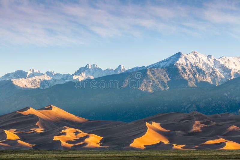 Grandi dune di sabbia immagine stock