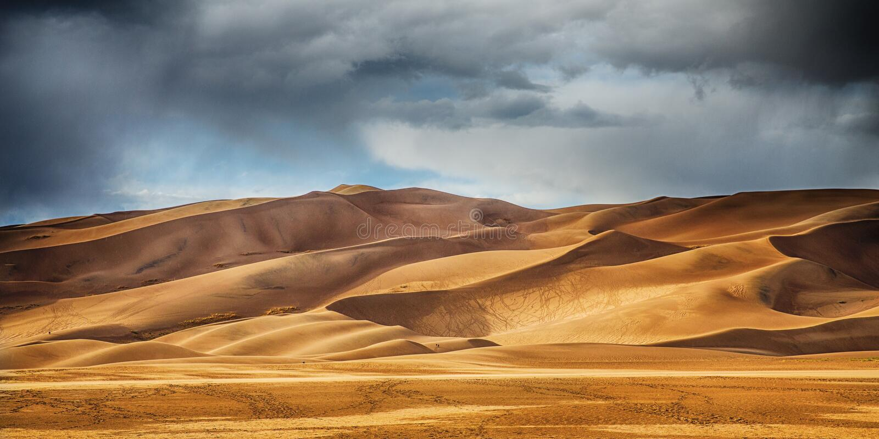 Grandi dune di sabbia fotografia stock