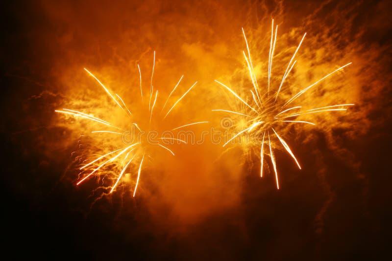 Grandi fuochi d'artificio immagine stock