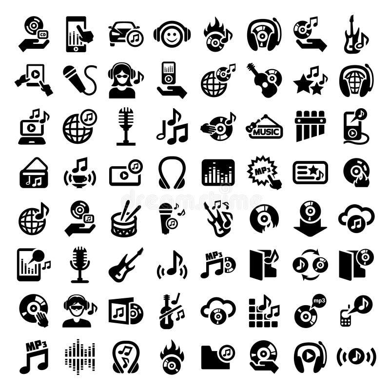 Grandi icone di musica messe illustrazione vettoriale