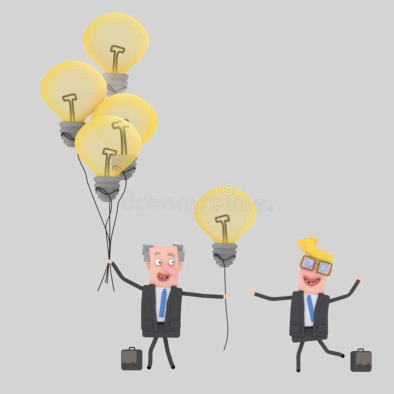 Grandi idee gifting dell'uomo d'affari illustrazione vettoriale