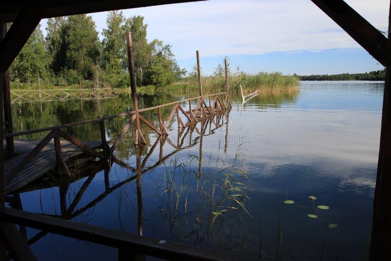 Grandi lago e paesaggio russi fotografia stock