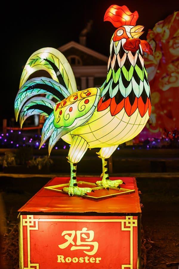 Grandi lanterne cinesi di notte immagini stock