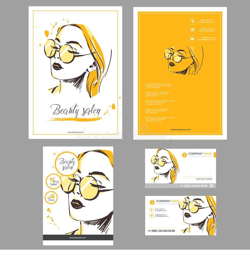 Grandi libretto e carte stabiliti del MODELLO royalty illustrazione gratis