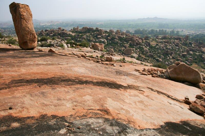 Grandi massi al paesaggio di Hampi India fotografie stock