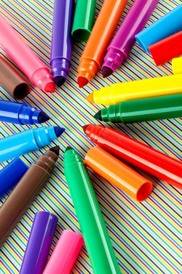 Grandi pennarelli immagini stock