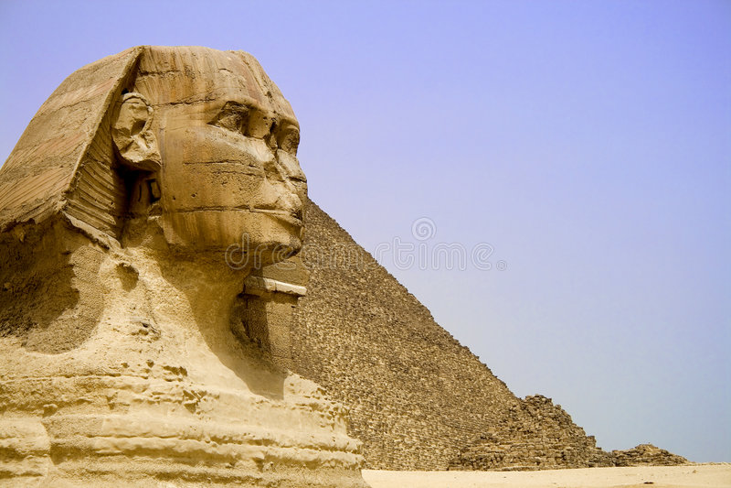 Grandi piramide e Sphinx immagini stock libere da diritti