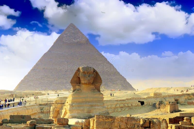 Grandi piramidi Il Cairo. L'Egitto. fotografie stock