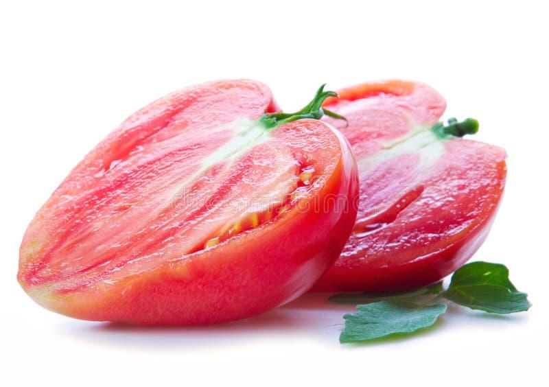 Grandi pomodori in forma di cuore fotografie stock libere da diritti