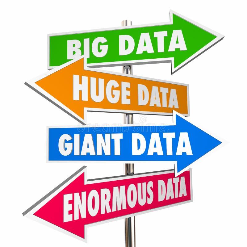 Grandi segni enormi giganti enormi di dati royalty illustrazione gratis