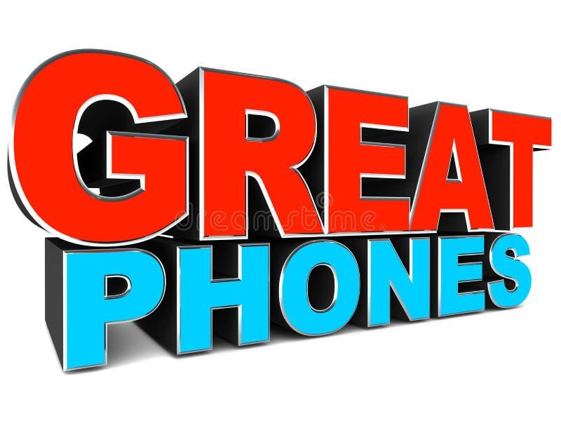 Grandi telefoni illustrazione vettoriale