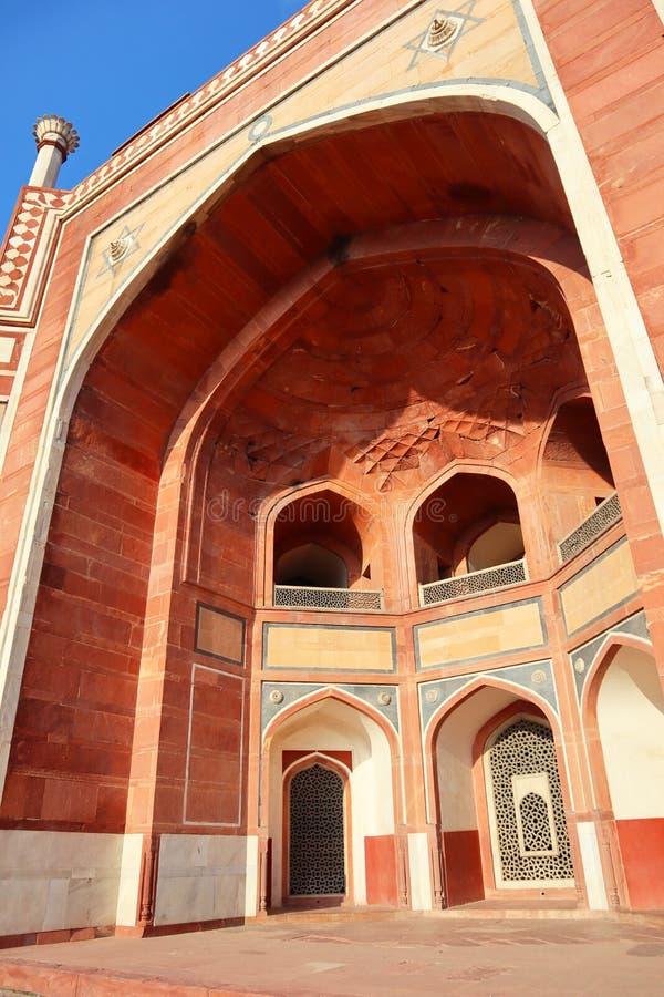 Grandiosidade do túmulo de Humayun histórico do monumento em Nova Deli - imagem fotos de stock royalty free