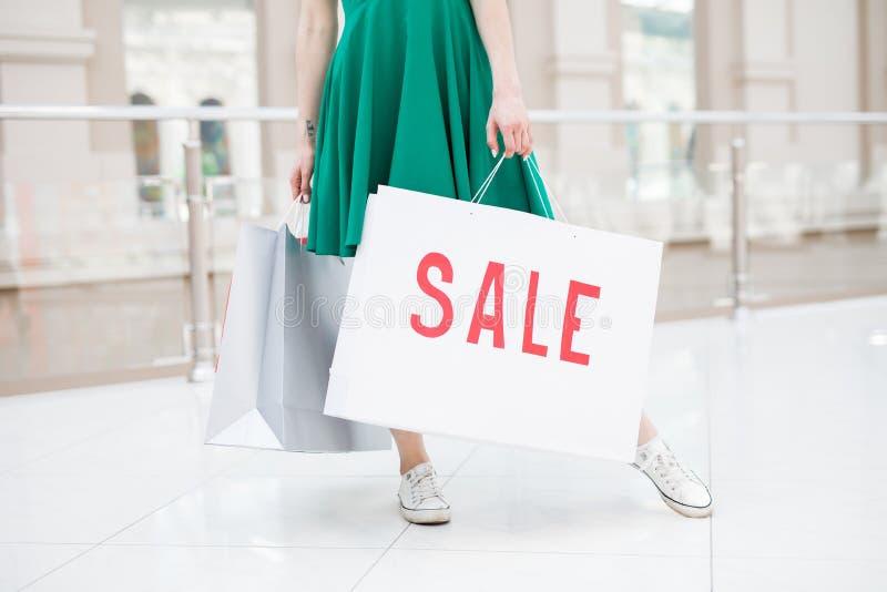 Grandioze verkoop in grote wandelgalerij stock foto