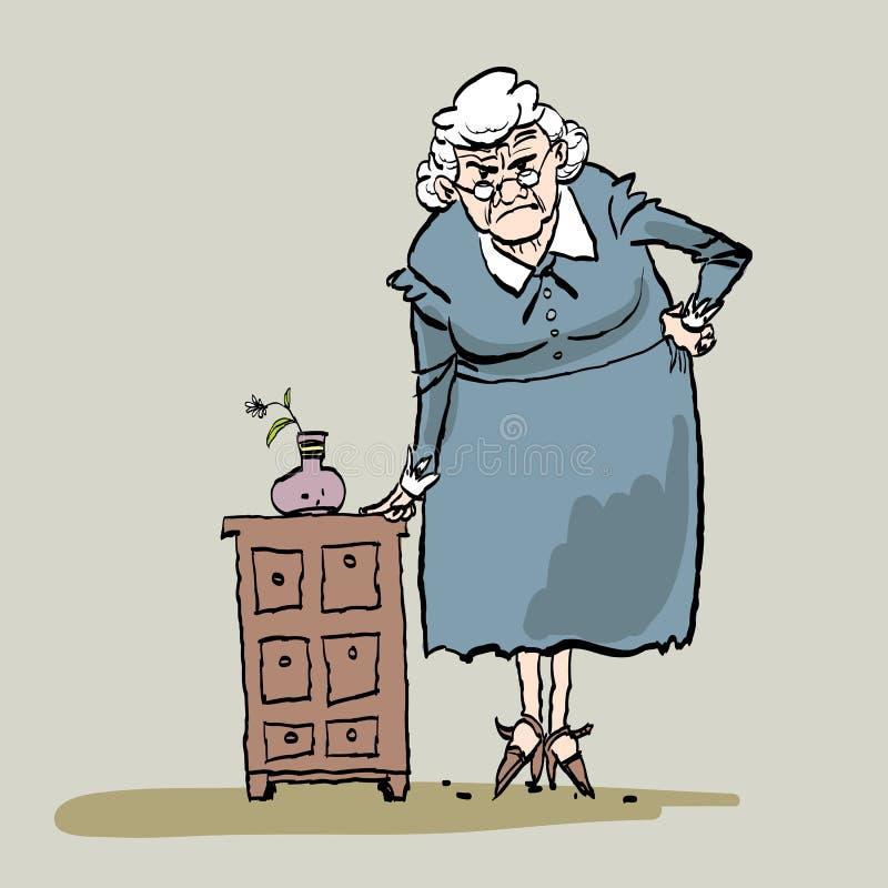 Grandma 0 δάσκαλος Σύζυγος που παίρνειη περιμένοντας το σύζυγο στοκ εικόνες