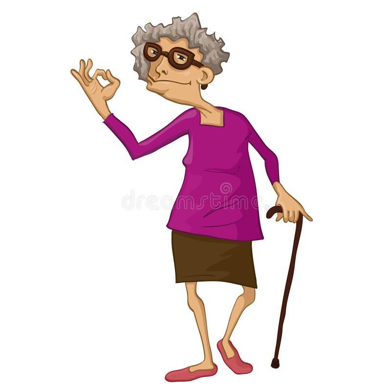 grandma ilustração royalty free