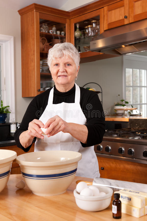 Download Grandma Baking In The Kitchen Stock Image - Image: 19368377