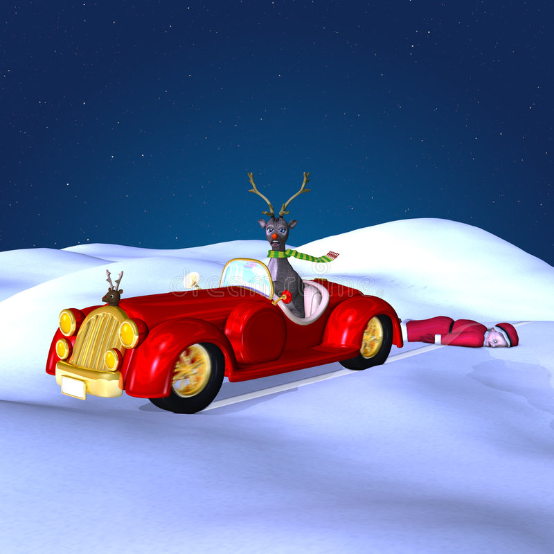 Free Grandma Got Run Over By A Reindeer Royalty Free Stock Image - 3738586