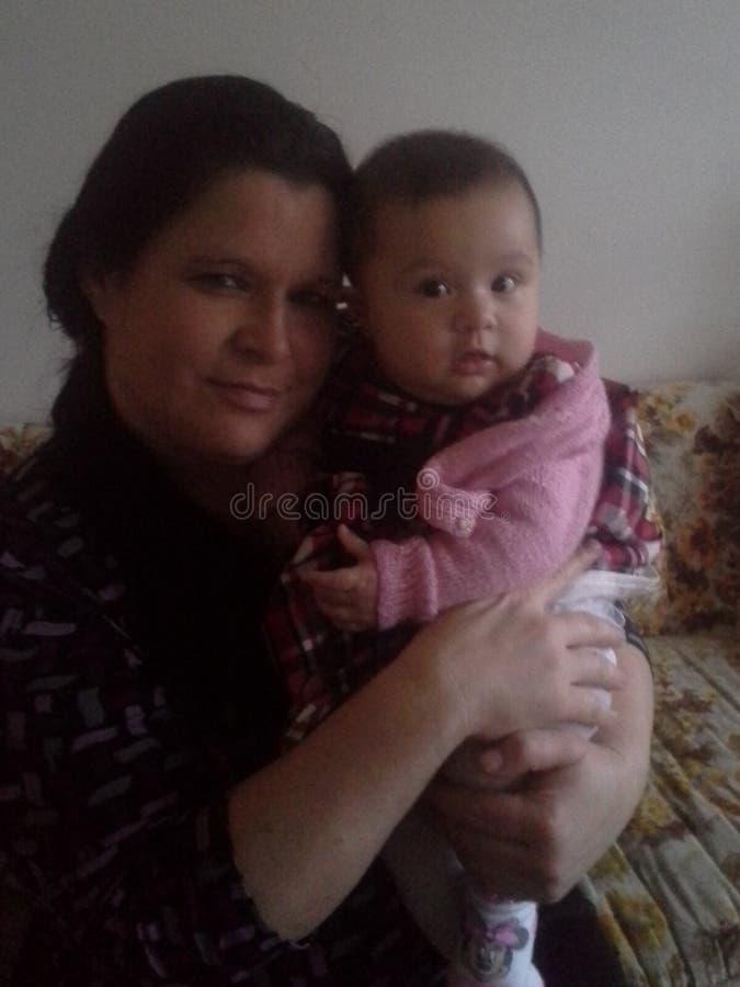 GRANDMA&GRAND女儿 免版税图库摄影