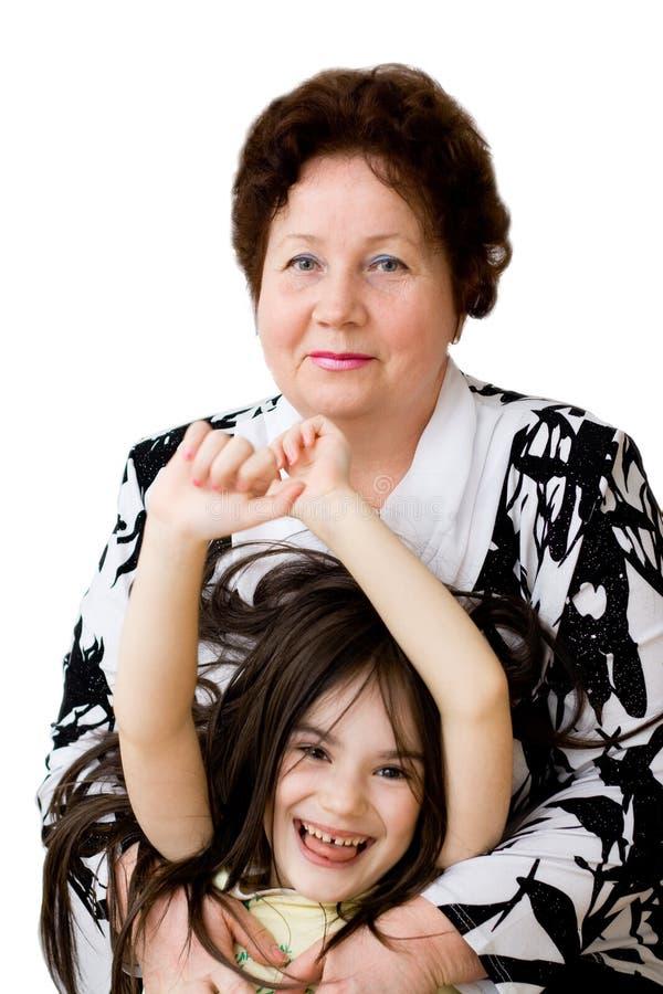 Grandma Grandchild Smile Stock Images