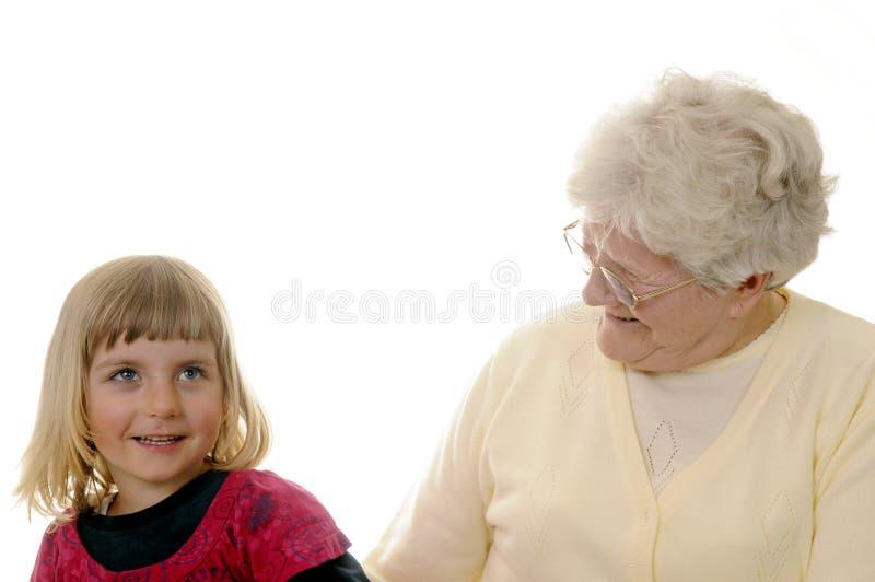 Grandma And Granddaughter Royalty Free Stock Image