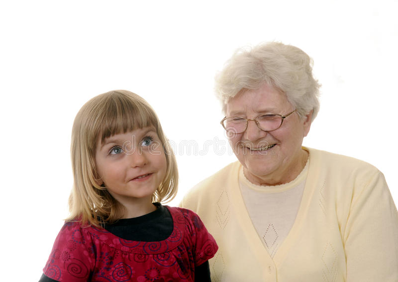 Download Grandma and granddaughter stock image. Image of dearly - 14456471