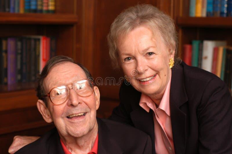 Grandma and grandpa royalty free stock images