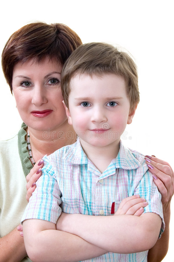 Download Grandma with grandson stock photo. Image of grandmother - 1184986