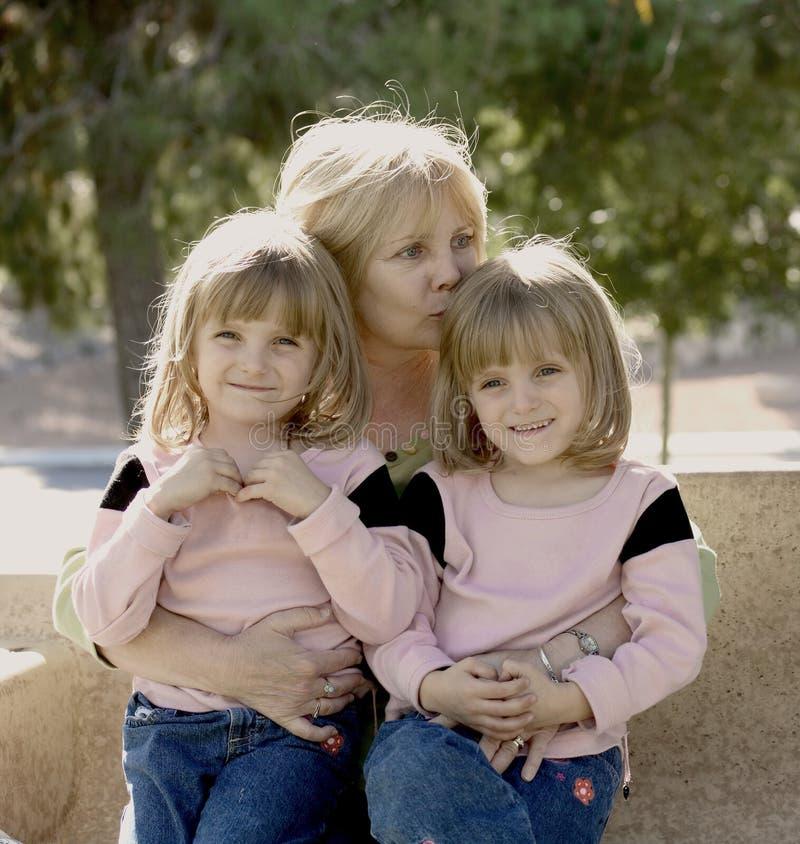 Grandma Hugs stock photos