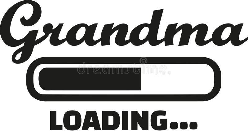 Grandma Loading vector. Grandma Loading bar family vector stock illustration