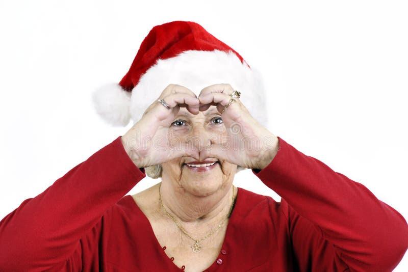 Download Grandma Making Heart Symbol Stock Image - Image: 22082301