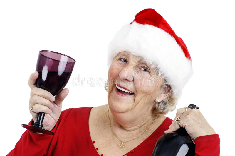 Grandma is making a toast royalty free stock photography