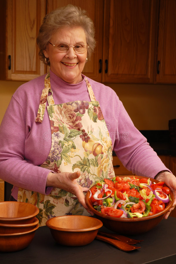 Download Grandma's Salad Fit-for-a-King Stock Photo - Image: 2132028