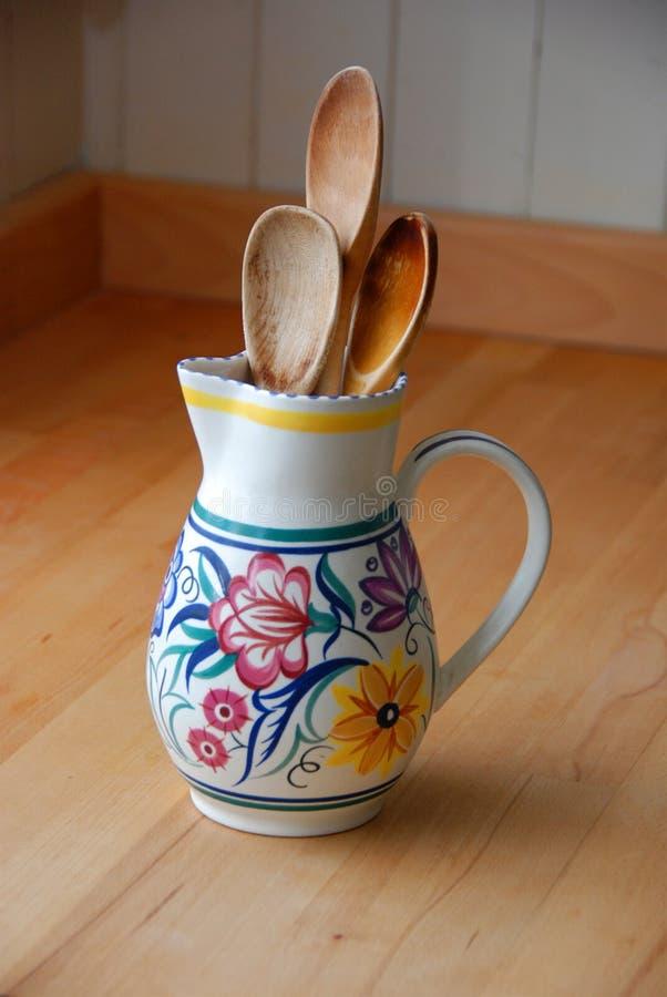 Download Grandma's spoons stock photo. Image of retro, spoon, floral - 22957042