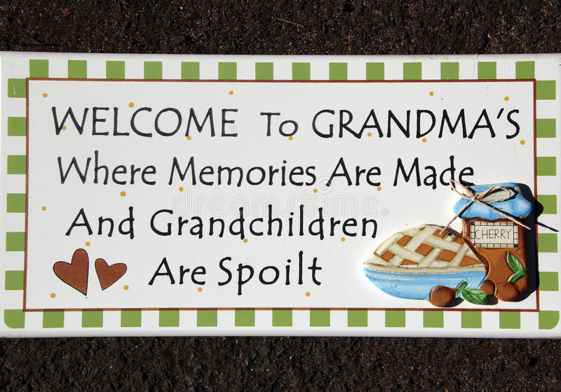 Grandma's Welcome Signage royalty free stock images